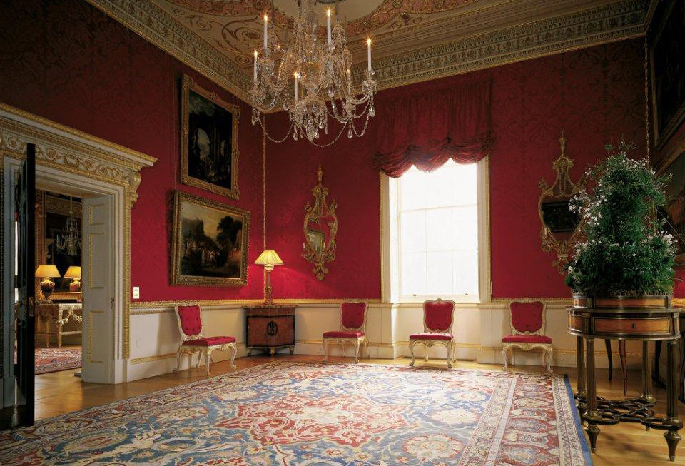lady spencers room was described by arthur young in 1772 as fitted up with great taste scarce anything can be more beautiful than the mosaic ceiling - House Rooms Photos