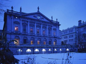 Spencer House in the snow, a perfect location for a exclusive London wedding or corporate event